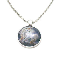Unicorn Necklace, Unicorn Pendant, Unicorn Charm, Unicorn Jewelry, Mythical Horse Necklace, Mythical Unicorn, Mythical Charm, Fantasy Horse