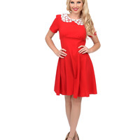 1940s Style Red Mia Fit N Flare Dress