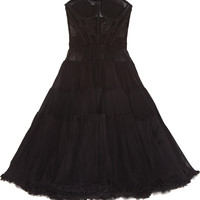 Dolce & Gabbana - Tiered stretch silk-blend tulle dress