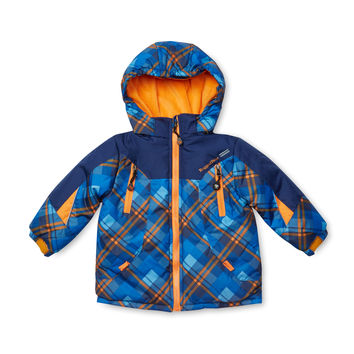 Rugged Bear Checkered Jacket - Blue -