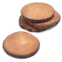 Wood Slice Coasters, Set of 4 | Sur La Table