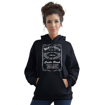 Stabilitees  Night's Watch Alcohol Related Drinking Hoodies = 1932187396