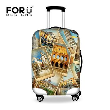 Vintage Luggage Protective Dust Cover to 18-28 inch Trunk Case Waterproof Travel Suitcase Cover Stretchable Luggage Accessories