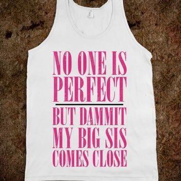 Big Sis Lil Sis Reveal Frat Tank - My Big Is Perfect Frat Tank  - Frat Tanks