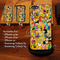 Snoopy, charly and Friends Design for iPhone 4, iPhone 4s, iPhone 5, Samsung Galaxy S3, Samsung Galaxy S4 Case