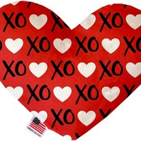 Red XOXO 8 inch Heart Dog Toy