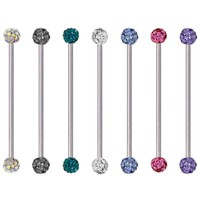 Epoxy-Coated Multi-Gem Ferido Industrial Barbell