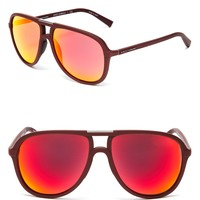 Dolce&Gabbana Sport-Inspired Mirrored Aviator Sunglasses