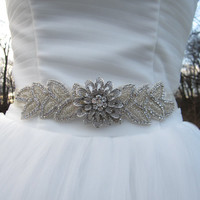 Bridal belt sash ribbon, rhinestone bridal sashes,rhinestone wedding dress sashes, rhinestone briddal belts