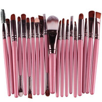 MA18 Stylish 2016 Professional 20 pcs Makeup Brushes Tool Kits Powder Eyeshadow Make up Brush Cosmetic Set Free Shipping