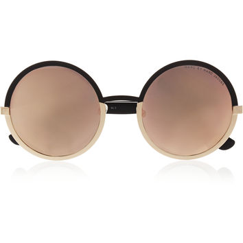 Marc by Marc Jacobs - Round-frame acetate mirrored sunglasses