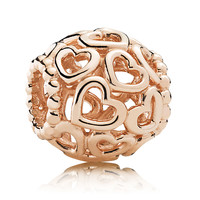 Pandora 14K Rose Gold Open Your Heart Charm