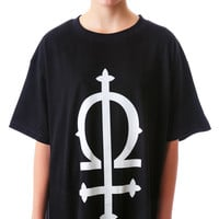 Long Clothing Omega Oversized Tee Black One