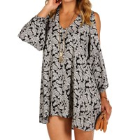 Black Damask Print Tunic