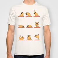 Pug Yoga T-shirt by Huebucket