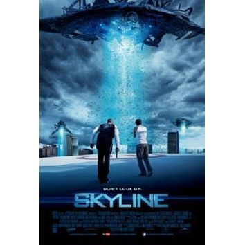 Skyline Movie poster Metal Sign Wall Art 8in x 12in