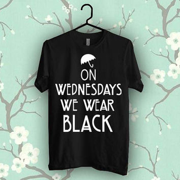 American Horror Story Coven On Wednesdays We Wear  Tshirt for men and women Cotton Unisex T-Shirt