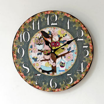 Pastoral Style Wall Sticker Quiet Clock [6451857286]