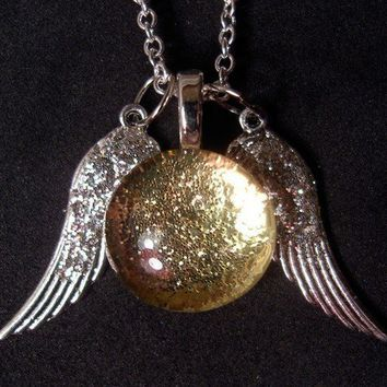 Ginny's Snitch Necklace by trophies on Etsy