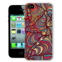 ChiChiC Iphone Case, i phone 4 4g 4s case,Iphone4 iphone4g iphone4s covers, plastic cases back cover skin protector,geometric colorful wave pattern