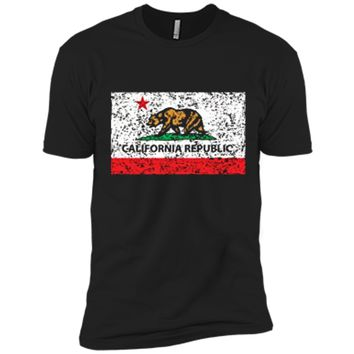California Republic Cali Flag T-Shirt Socal Norcal Cencal T Next Level Premium Short Sleeve Tee