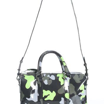 Neon Green and Camo Travel Bag by MISBHV