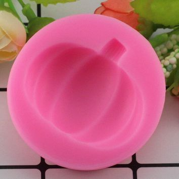 Mujiang 3D Pumpkin Silicone Mold Cookie Cupcake Baking Molds Fondant Cake Decorating Tool Candy Chocolate Gumpaste Moulds