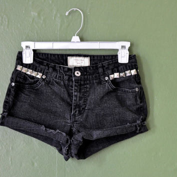 Small Black Studded Shorts