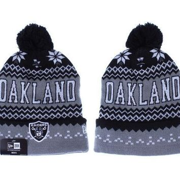 ESBON Oakland Raiders Beanies New Era NFL Football Hat