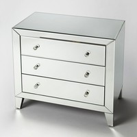 Emily Modern Rectangular Drawer Chest Clear