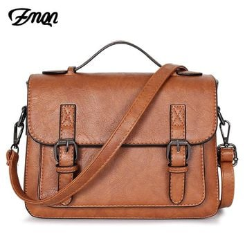 ZMQN Bags For Women Messenger Bag 2018 Crossbody Bags PU Leather Small Satchels Vintage Shoulder Bags Handbags Women Cover C202