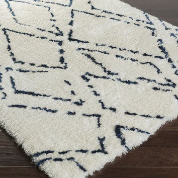 Scout Area Rug | Blue Shag Rugs Hand Tufted | Style SCO3001