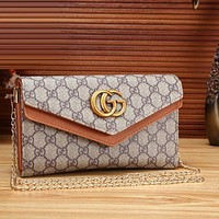 GUCCI trend of women's fashion printed leather handbag Messenger bag F