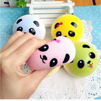 4 cm Cute P a Squishy Kawaii Buns Bread Charms Key Bag Cell Phone Straps Bag Parts   Accessories SM6