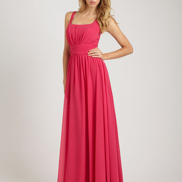 Allure Bridesmaids Dress 1257 Long Chiffon