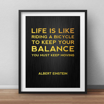 Albert Einstein Wisdom Minimal Poster Typographic Quote Print Motivational poster Office Decor Printable Home Decor Gold Printable