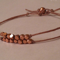 Rose Gold Perfection Bracelet by ALEPHTAVJEWELRY on Etsy