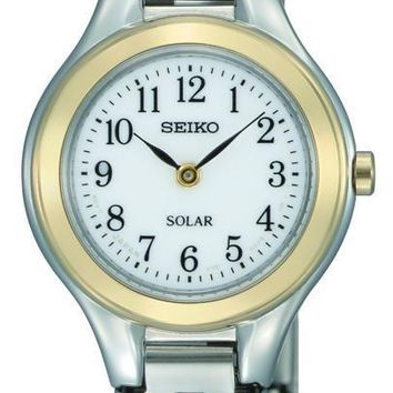 Seiko Womens Solar Stainless Steel Watch