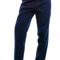 Vintage 90's Navy Blue Wool Trousers - S/M