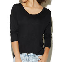 Long Sleeve Dolman Top | Wet Seal