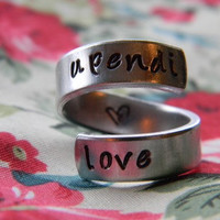The original upendi love twist aluminum ring