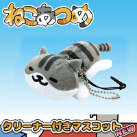 Neko Atsume Plush Doll Smartphone Cleaner Mascot (Shirosaba-san)