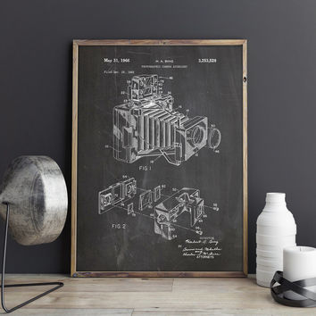 Camera Art Poster, Camera Wall Poster, Vintage Camera Decor, Camera Patent Poster, Retro Camera Decor,Antique Camera Decor, INSTANT DOWNLOAD