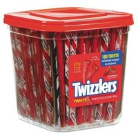 Strawberry Twizzlers Licorice, Individually Wrapped, 180/Tub, 57.5 oz Tub - Walmart.com
