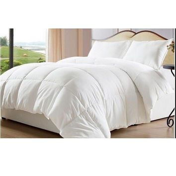 White Down Alternative Comforter/ Duvet Cover Insert-Twin -Queen-King Sizes