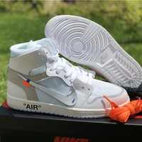 "OFF-WHITE x AIR JORDAN 1 ""WHITE"" SNEAKER"