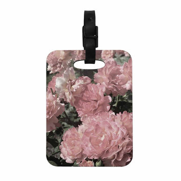 "Susan Sanders ""Blush Pink Flowers"" Floral Photography Decorative Luggage Tag"