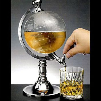Novelty Globe Shaped Beverage Liquor Home Bar Dispenser Wine Beer Pump Single Canister Pump Kitchen Accessories Cocina Gadget