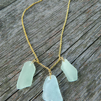 Sea glass necklace, seaglass jewelry, pastel sea glass, ocean jewelry, beach glass necklace, natural sea glass, real glass, collar necklace