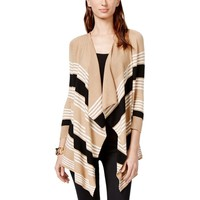 Cable & Gauge Womens Knit Striped Cardigan Sweater